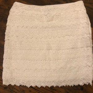 White House Black Market Lace Mini Skirt